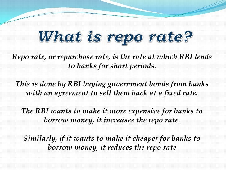Definition of 'Reverse Repo Rate'