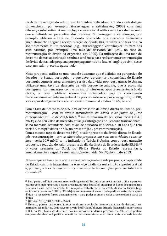 Tabela 9. Valor presente da dívida bruta não consolidada das Administrações Públicas e Sector Empresarial do Estado, pré-r...