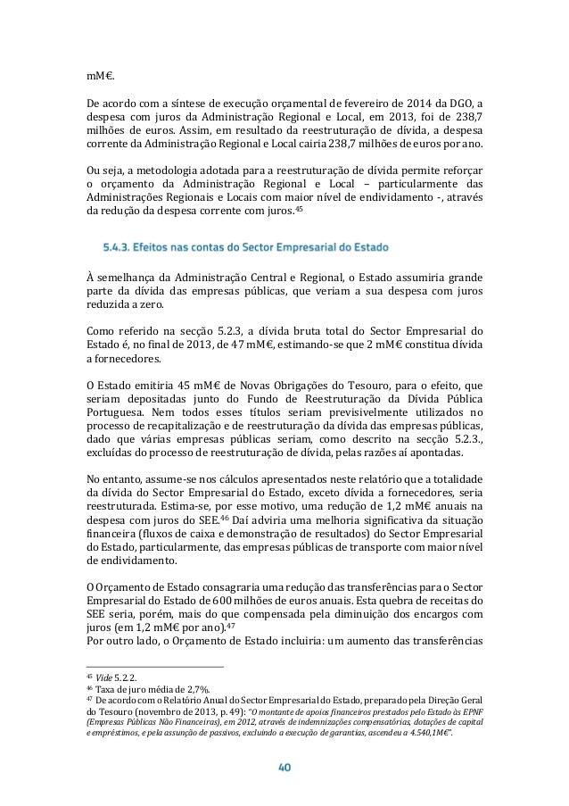Proposta Honesta e Concreta de Reestruturação da Dívida Portuguesa