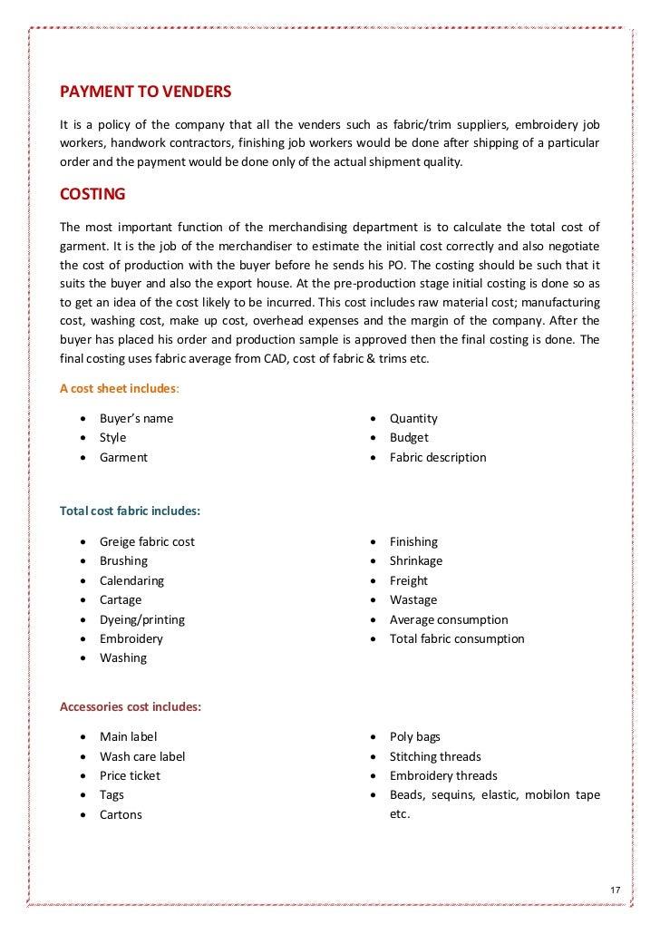 garments internship report Internship report on garments industry of bangladesh the challenging ahead.