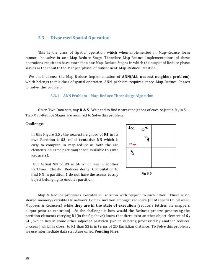 3.3    Dispersed Spatial Operation        This is the class of Spatial operation which when implemented in Map-Reduce form...