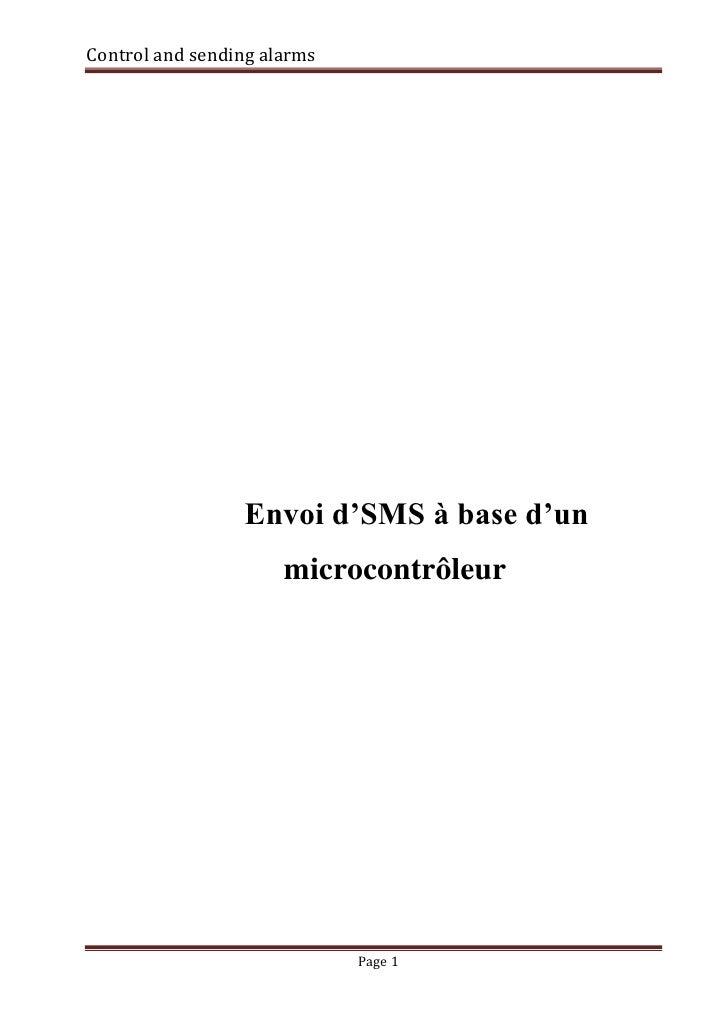 Control and sending alarms                 Envoi d'SMS à base d'un                      microcontrôleur                   ...