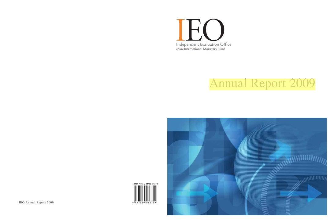 Annual Report 2009IEO Annual Report 2009