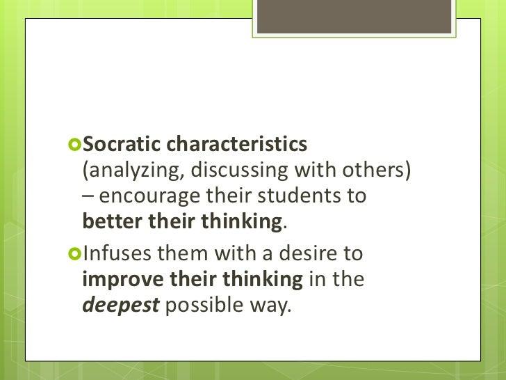 characteristics of socratic method