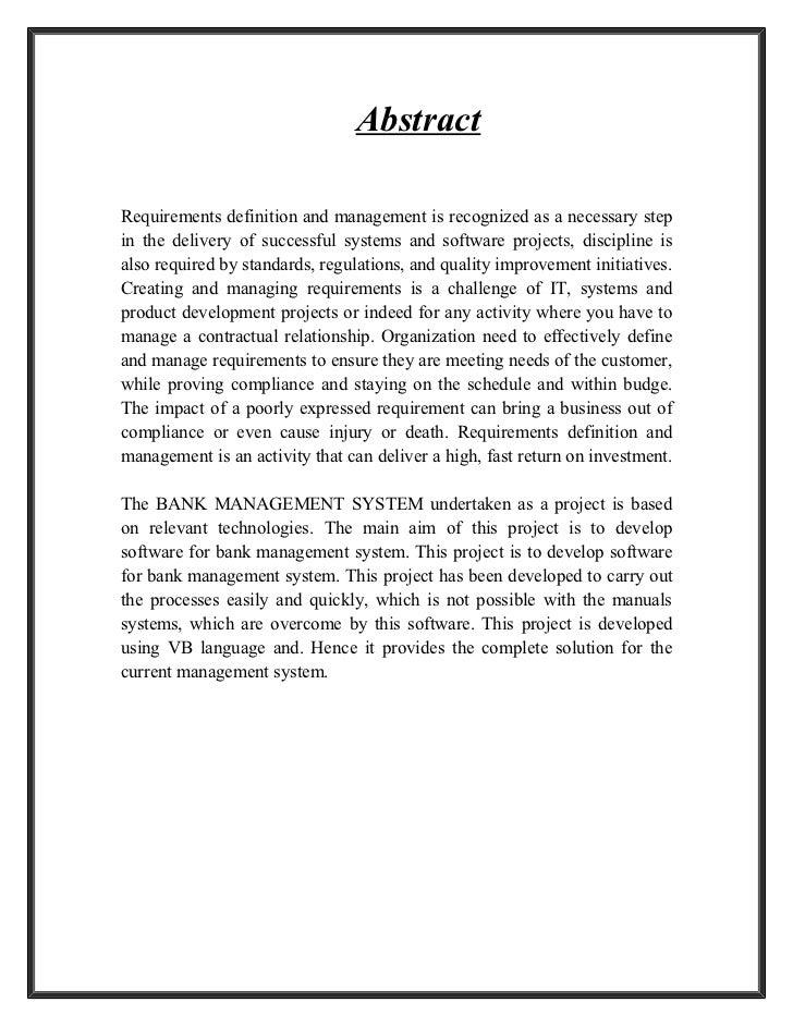 multi banking system project documentation pdf