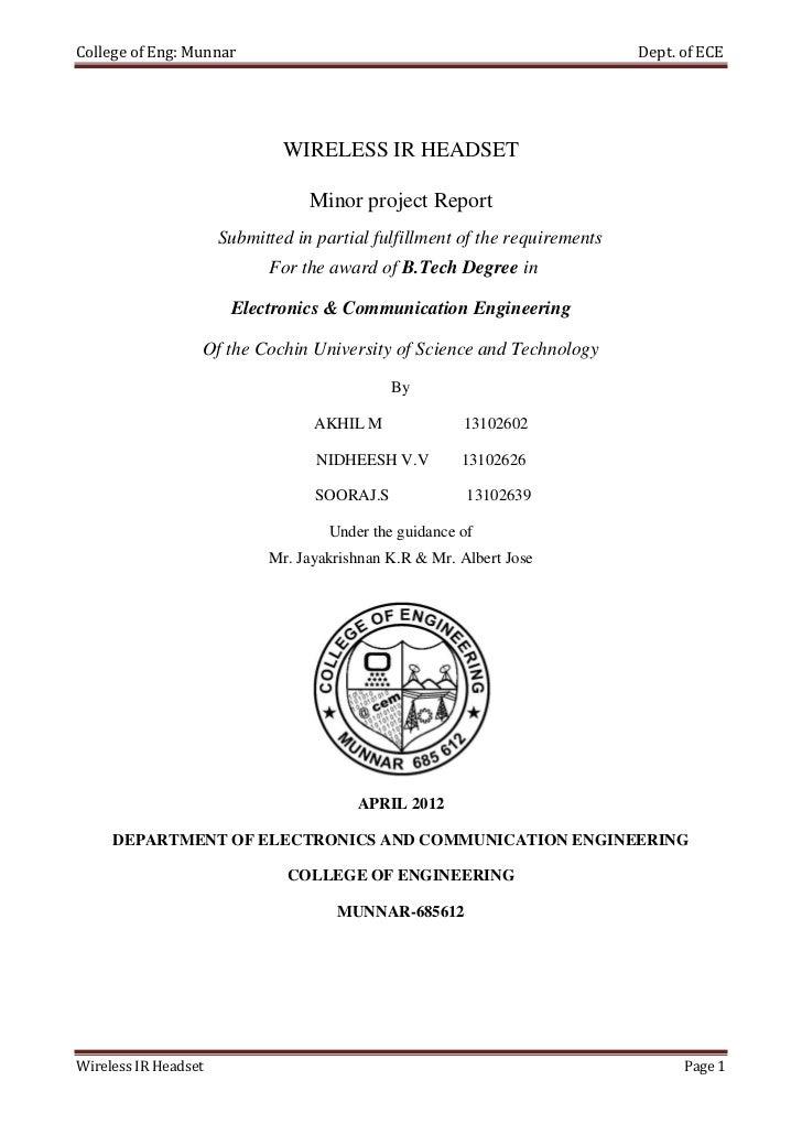 College of Eng: Munnar                                                       Dept. of ECE                              WIR...