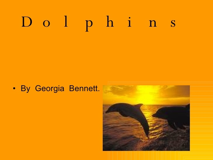 Dolphins <ul><li>By  Georgia  Bennett. </li></ul>