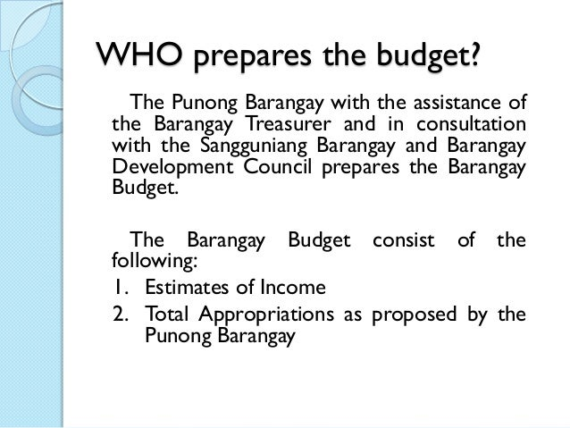 Overview in Barangay Budgeting