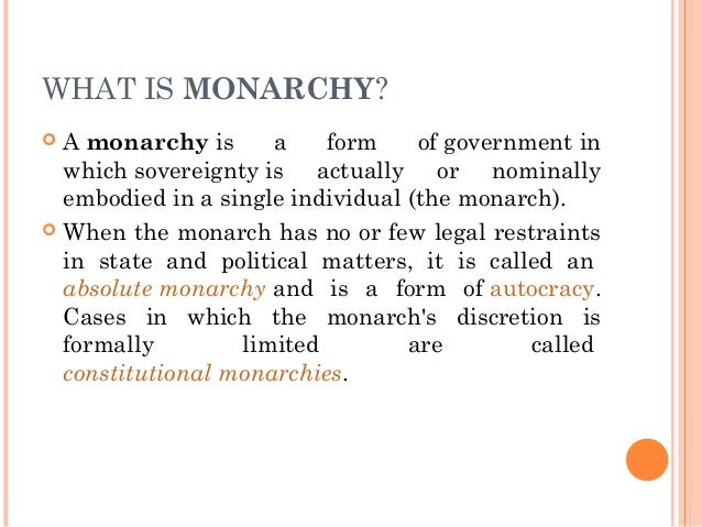 monarchical system of government pdf