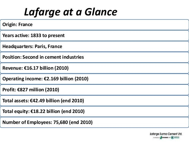 report on lafarge surma cement The subsidiary of lafargeholcim is also building a cement  in the end holcim's shareholders ended up owning 556% of lafargeholcim lafarge's  reports.