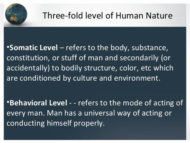 Somatic Level Of Human Nature
