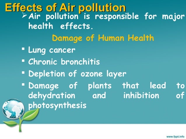 the effects of air pollution on humans and the environment 7 serious effects of land pollution  air pollution  the loss of their natural habitat and environment the continued human economic activities on land .