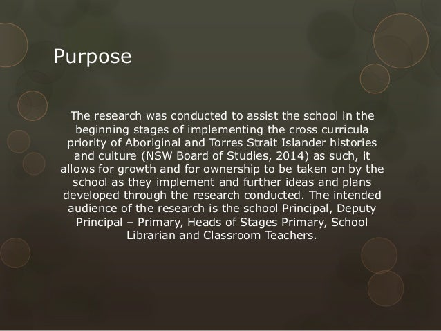 Purpose The research was conducted to assist the school in the beginning stages of implementing the cross curricula priori...