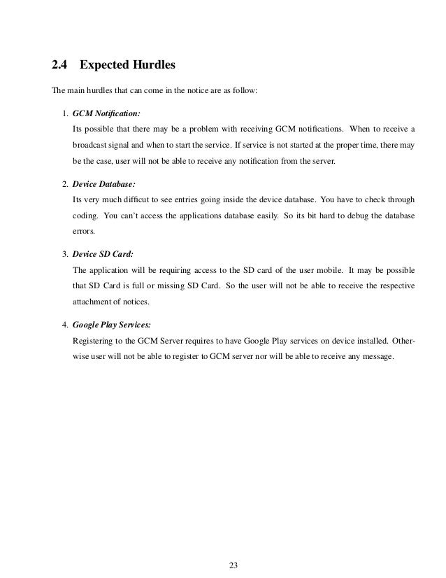 Report on e-Notice App (An Android Application)