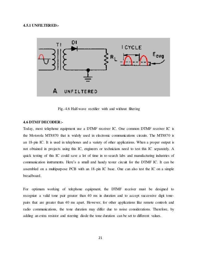 DTMF BASED MOBILE CONTROLL ROBOT SYSTEM