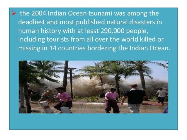 2004 indian ocean earthquake essay On december 26, 2004, an earthquake measuring 90 on the richter scale, occurred in the indian ocean off of the samaritan coast, triggering the deadliest tsunami in recorded history before the tsunami, this region of the world was one of the most sought after vacation spots.