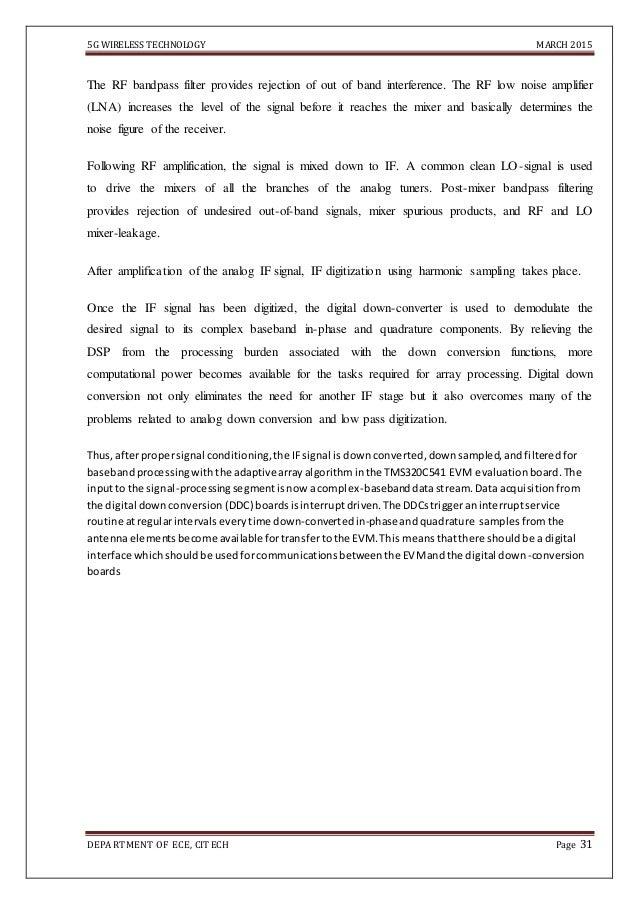 5G wireless technology Report