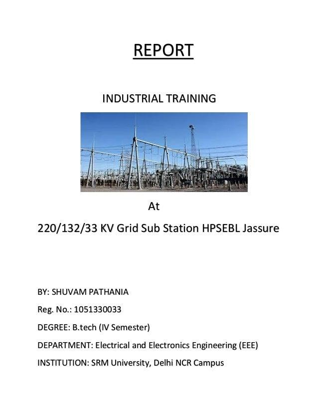 Report on 220kv substation at Jassure