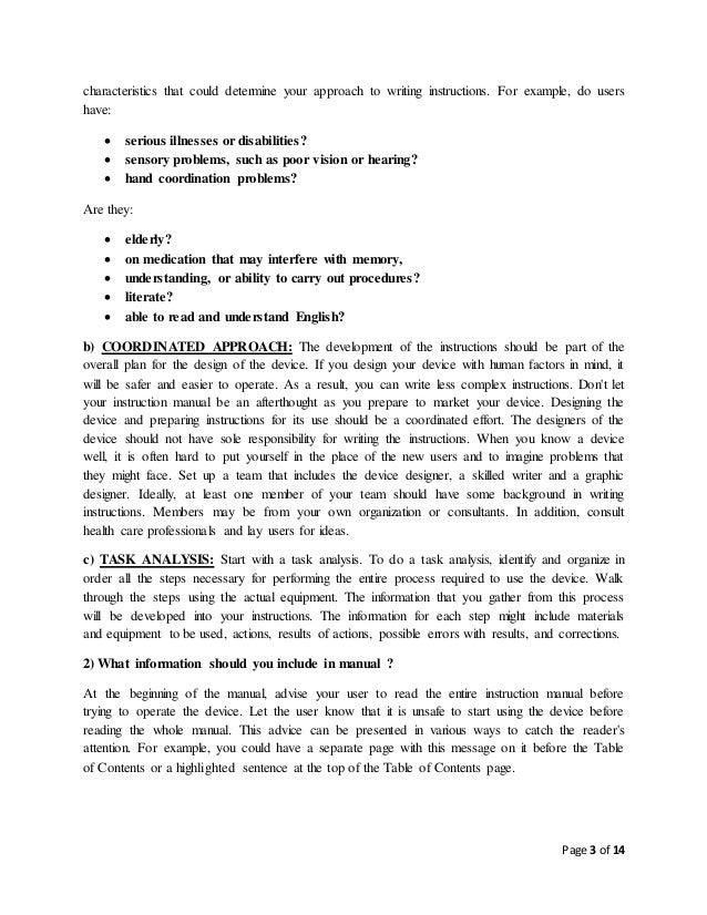 technical writing and presentation skills rh slideshare net technical writing instruction manual topics technical writing instruction manual
