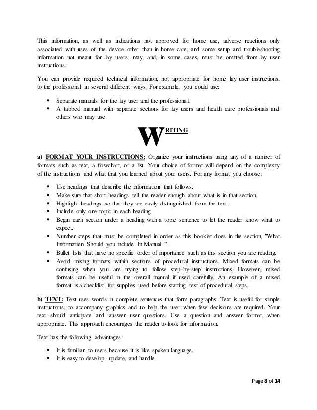 User Manual Format Technical Writing - Wiring Diagram •