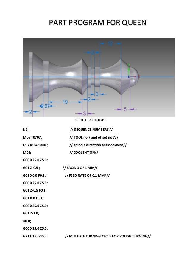 chess pieces program of cnc lathe rh slideshare net Code Geas fanuc cnc turning programming manual pdf
