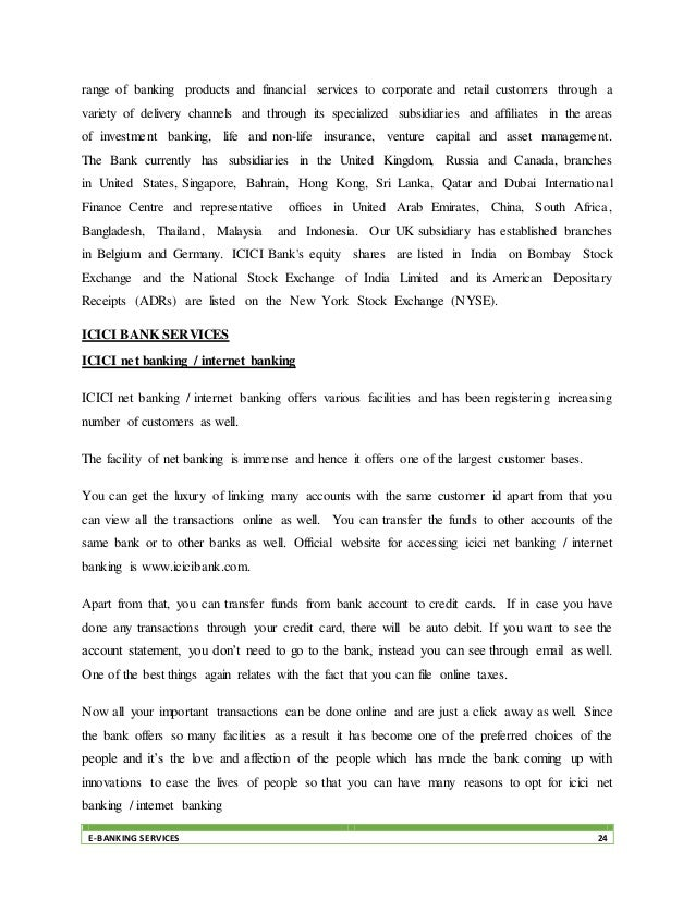 customer satisfaction towards e banking services a A study on customer satisfaction towards online banking services with reference to bangalore city mr lakshmi narayanak [a] mr sri hariv [b] drp paramashivaiah.