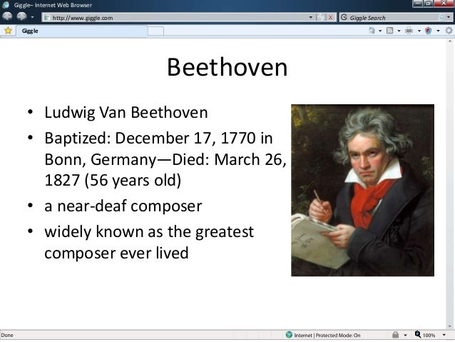 biography of ludwig van beethoven Ludwig van beethoven was probably born on december 16, 1770 in bonn /  germany as son of the well-known tenor singer johann van beethoven of the  court.