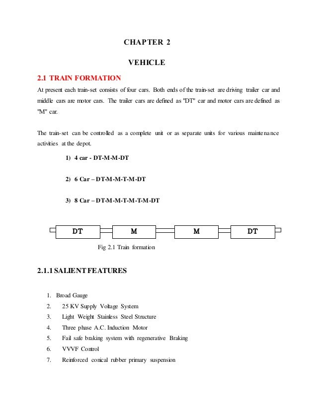 Report on Dmrc rolling stock