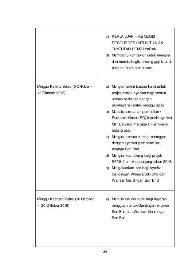 Contoh Report Latihan Industri 2016 Politeknik Dat