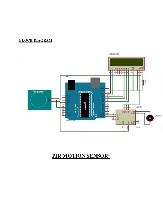 Pir Sensor Circuit Diagram Electronic Circuit Diagram Motion Detector
