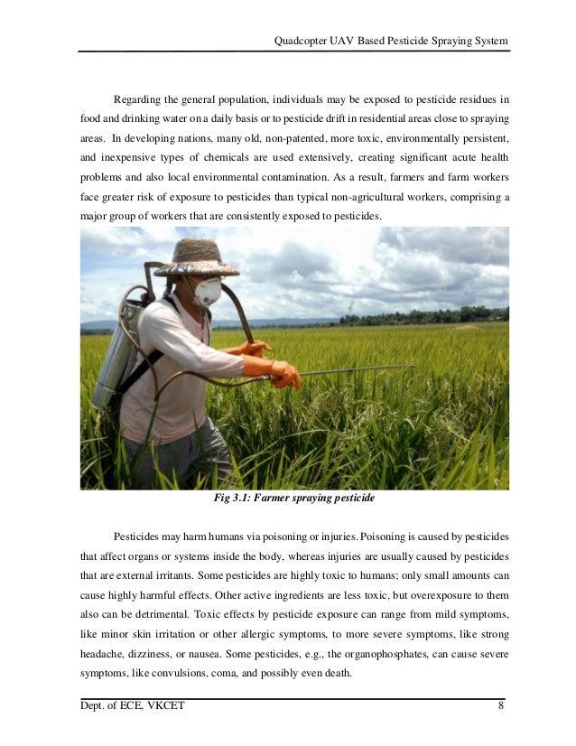 Quadcopter based pesticide spraying system