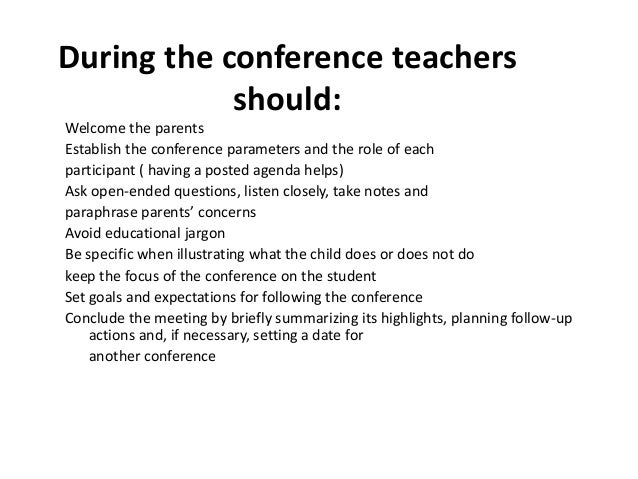 Assessment Report cards and student led conferences – Conference Report Template