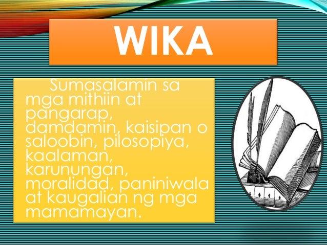 dalawang bahagi ng kultura Nagkaiba na ang kahulugan ng dalawang pangungusap  walang katumbas ang /malong/ sa tagalog sapagkat hindi bahagi ng kultura ng mga tagalog ang salitang ito.
