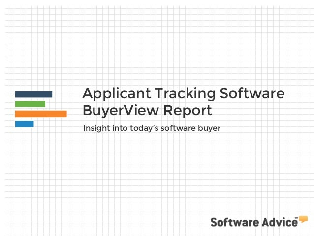 Applicant Tracking Software BuyerView Report Insight into today's software buyer