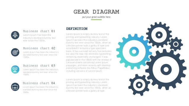 GEAR DIAGRAM put your great subtitle here DEFINITION Lorem Ipsum is simply dummy text of the printing and typesetting indu...