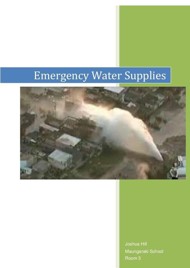 Joshua Hill Maungaraki School Emergency Water Supplies Room 3