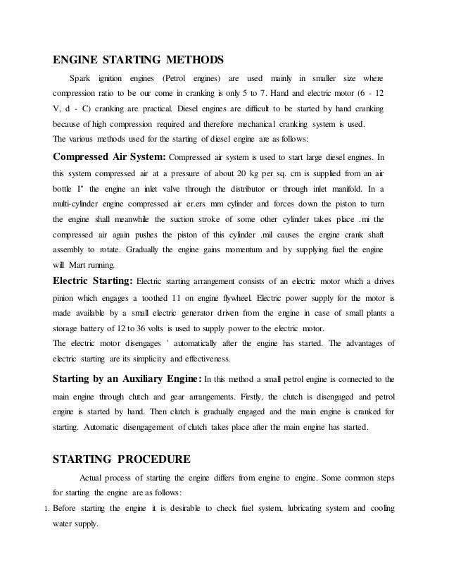 report on diesel engine pdf