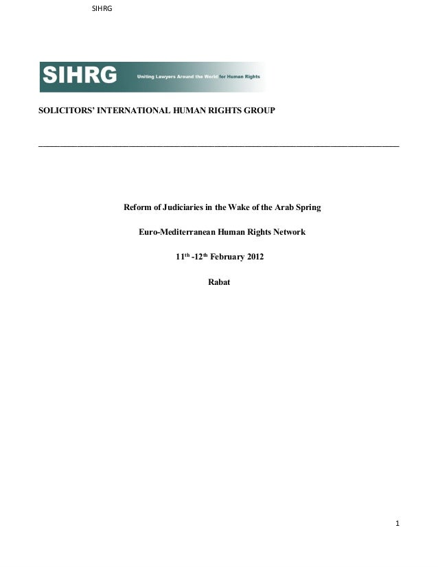 SIHRGSOLICITORS' INTERNATIONAL HUMAN RIGHTS GROUP_________________________________________________________________________...