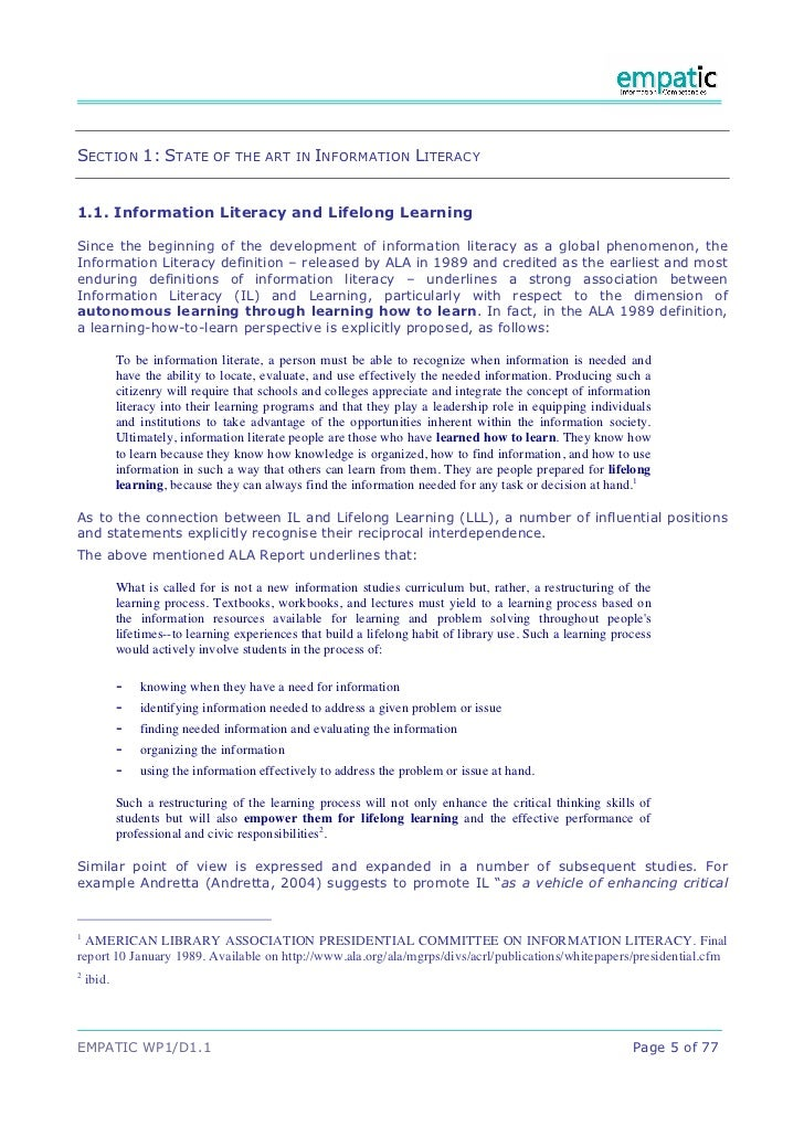 information literacy and scholarship practice and Doc 700 week 3 assignment scholarship, practice, and leadership paper $2500 : quantity: product description write an 875- to 1,050-word paper analyzing and evaluating the relationship between information literacy—as described in the literature—and each aspect of the scholar.