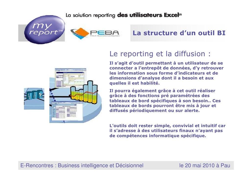 3 La structure d'un outil BI                                           Le reporting et la diffusion :                     ...