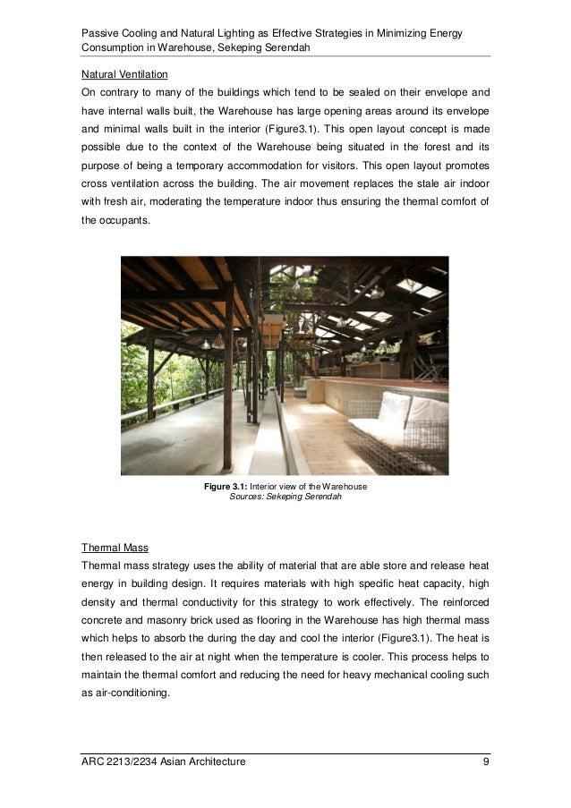 report passive cooling natural lighting. Black Bedroom Furniture Sets. Home Design Ideas