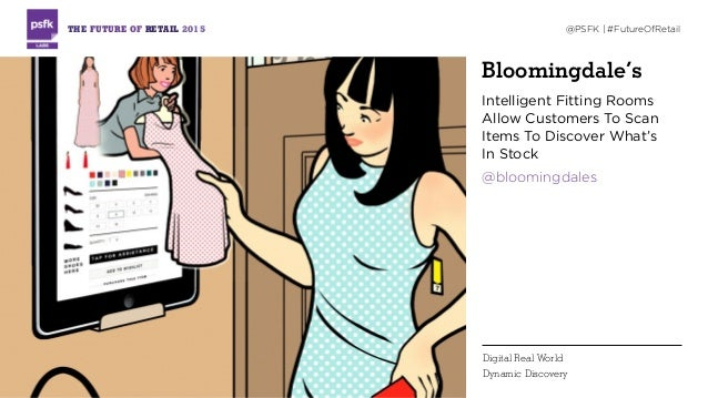 Bloomingdale's Intelligent Fitting Rooms Allow Customers To Scan Items To Discover What's  In Stock @bloomingdales THE FU...