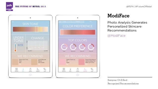 ModiFace Photo Analysis Generates Personalized Skincare Recommendations @ModiFace THE FUTURE OF RETAIL 2015 @PSFK   #Futur...