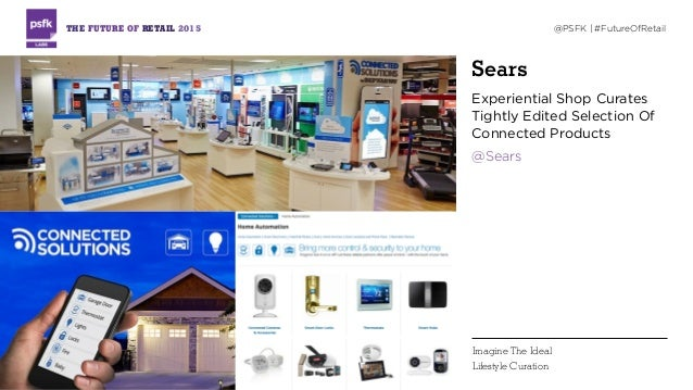 Sears Experiential Shop Curates Tightly Edited Selection Of Connected Products @Sears THE FUTURE OF RETAIL 2015 @PSFK | #F...