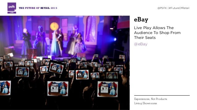eBay Live Play Allows The Audience To Shop From Their Seats @eBay THE FUTURE OF RETAIL 2015 @PSFK | #FutureOfRetail Experi...