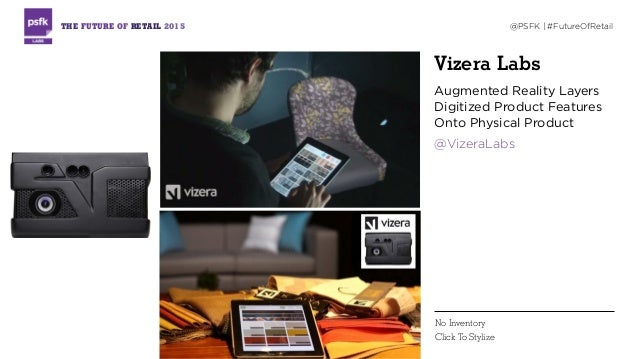 Vizera Labs Augmented Reality Layers Digitized Product Features Onto Physical Product @VizeraLabs THE FUTURE OF RETAIL 201...
