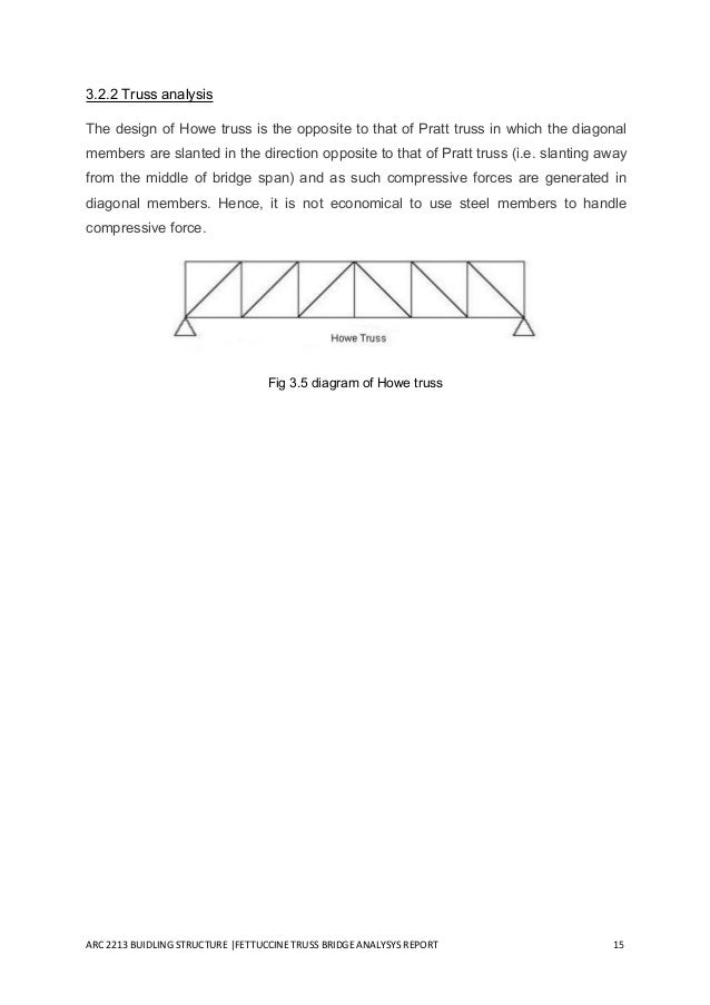 truss bridge report Build a bridge with popsicle sticks to learn about tension and weight distribution that real engineers must take into account when constructing a bridge.