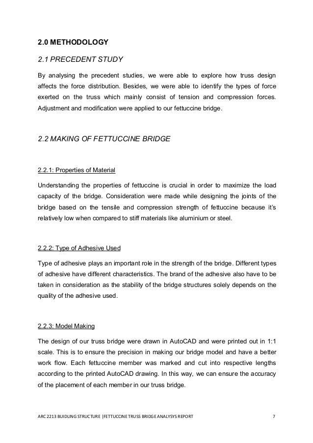 truss bridge report Arch 2213 building structures project 1 : fettuccine truss bridge  analysis report table of contents 1) introduction 4.
