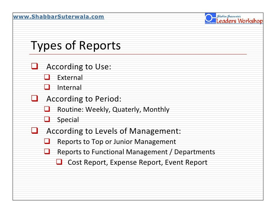 BUSINESS REPORT | DEFINITION | CLASSIFICATION OF BUSINESS REPORTS