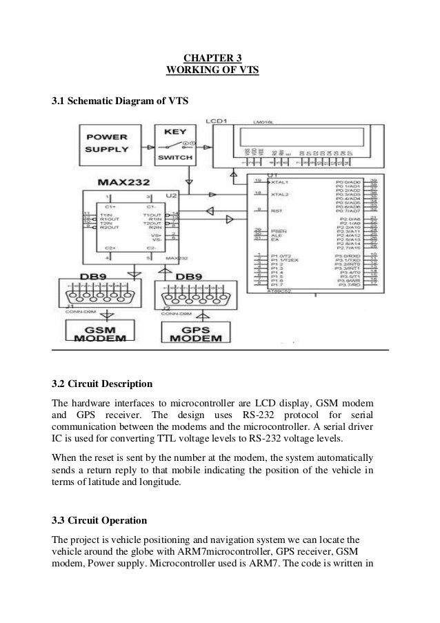 Vehicle tracking using gpsgsm arm7 42 chapter 3 working of vts 31 schematic diagram ccuart Images